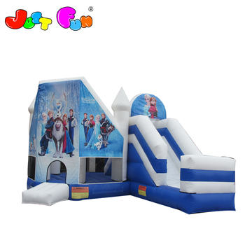 cartoon inflatable castle slide combo, cheap inflatable bounce house with slide