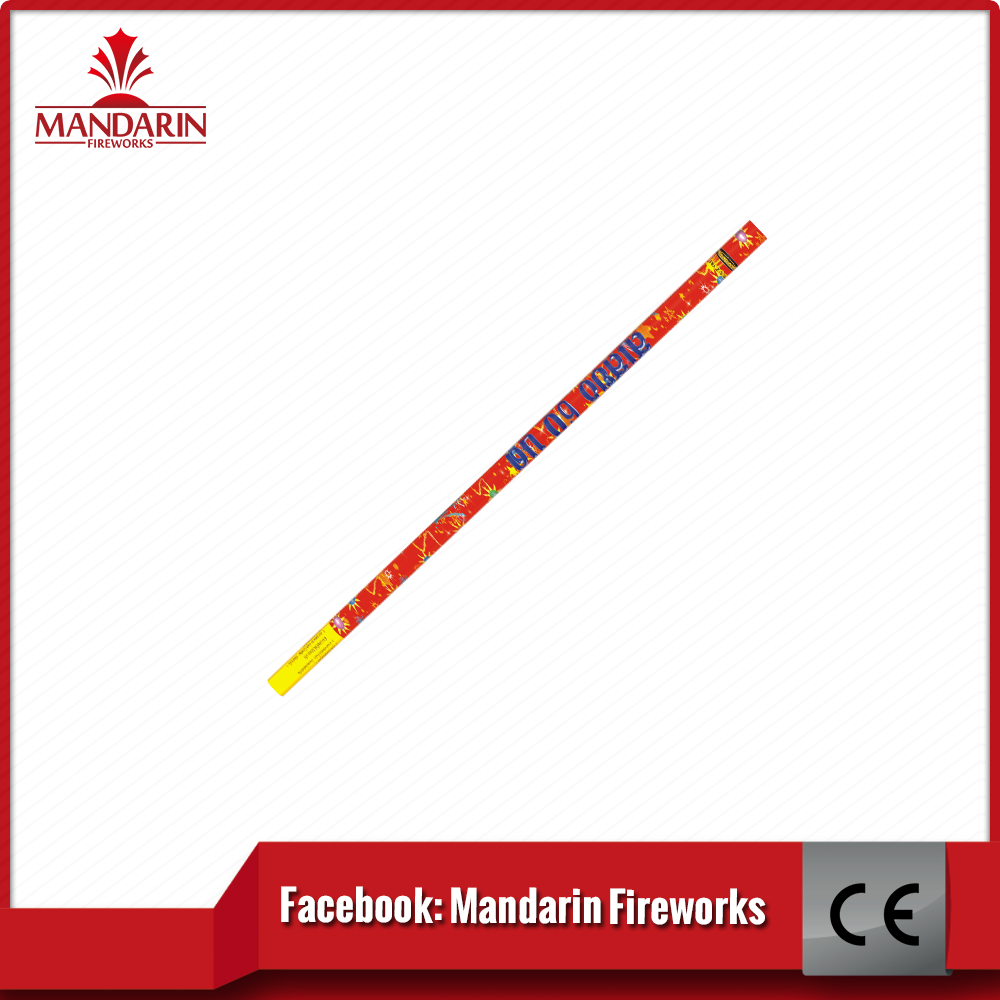 Multi color match cracker 10 ball roman candle
