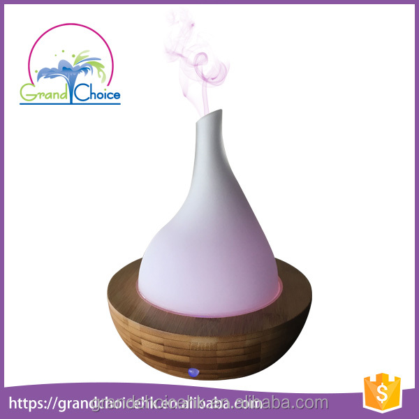 Home Portable Bamboo Glass Ultrasonic cool Mist Aromatherapy Diffusers 12v Ultrasonic Aromatherapy Air mini Wood Humidifiers