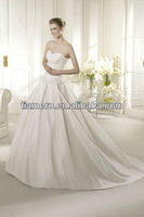 Imported German Sweetheart Neck Princess Wedding Dresses with Long Trains