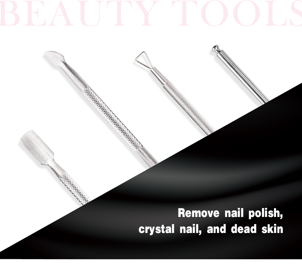 Yangjiang Hing Quality Double-ended Stainless Steel Remover Nail Cuticle Pusher
