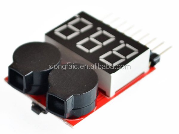 New Arrival 2 in 1 1S-8S Lithium Battery Level Indicator & Low Voltage Alarm