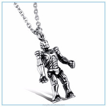 MECYLIFE personalized design casting stainless steel Iron Man robot pendant