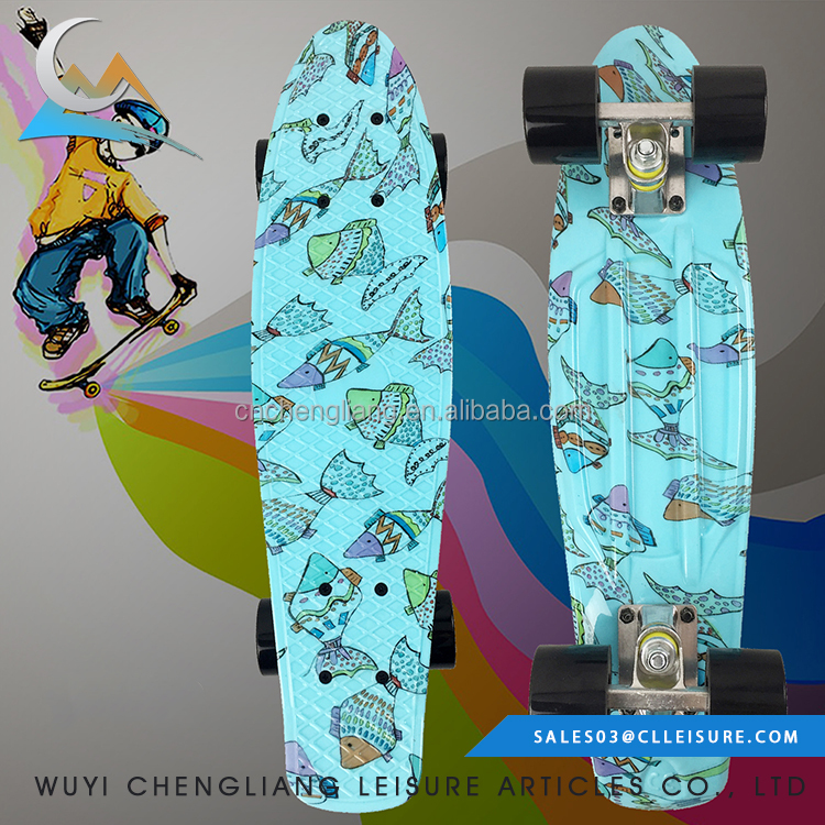 22*6inch professional deck custom complete skateboards size retro skate board