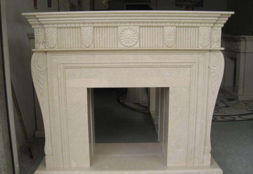 Western style natural artifical marble decorative indoor fire place for sale