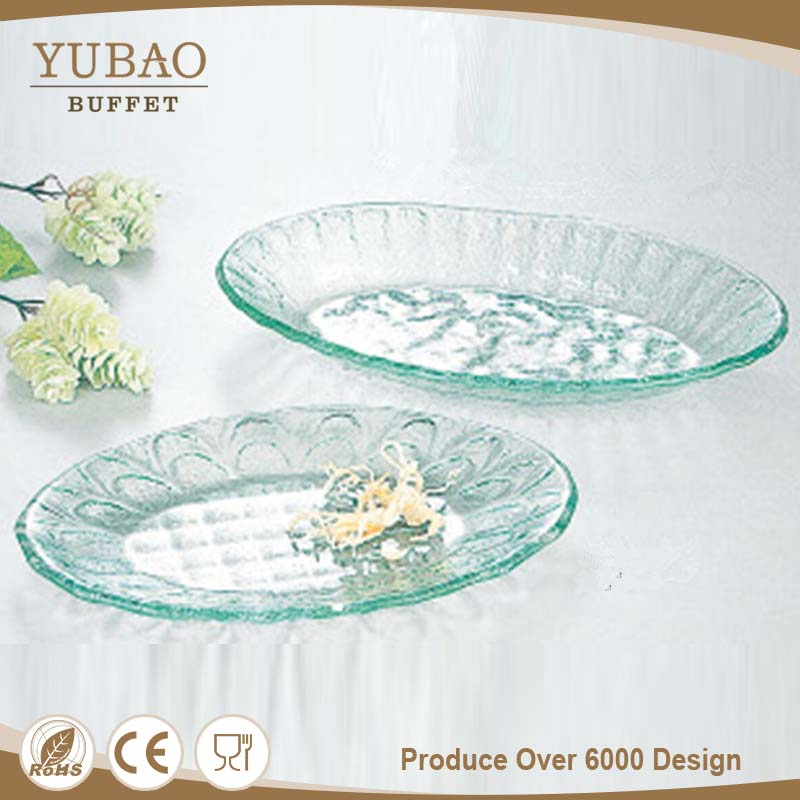 Latest Design Shallow Oval Glass Paint Tray, Glass Candle Tray, Kids Folding Tray
