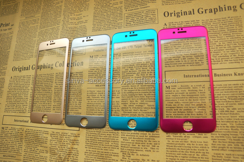 Sinva Colorful Wholesale Price 0.3mm 2.5d Titanium Alloy Film Guard Screen Protector Tempered Glass For Iphone