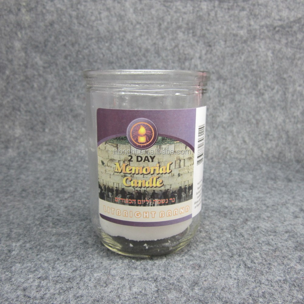 memorial glass candle for religion