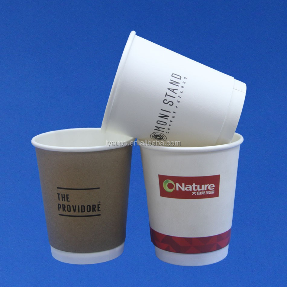 wholesale disposable single double ripple Paper Cup with custom logo
