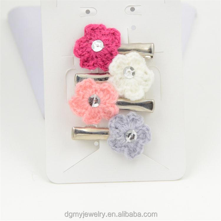 colorful sweater bun flower pin for hair decorative hair pins