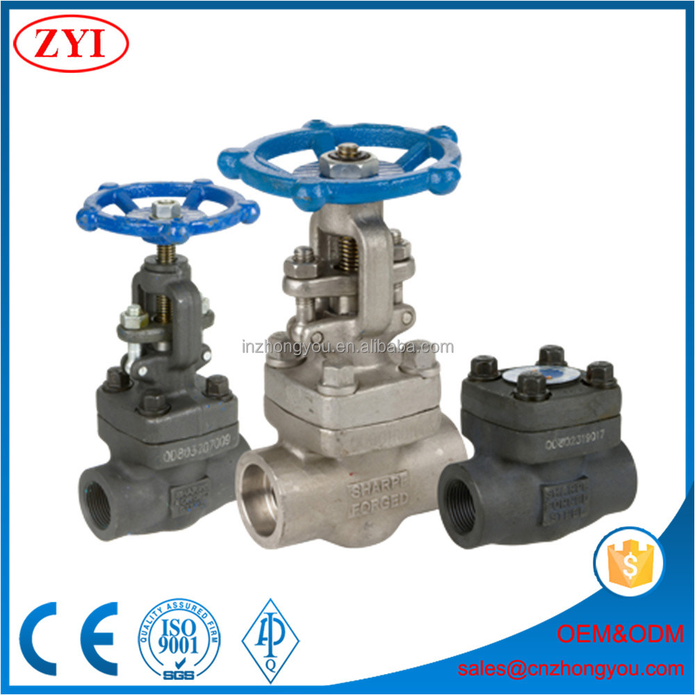 Wholesale body material ASTM A105N forged SW VALVE