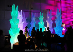 Event, stage, party, club decoration tusk illuminated inflatable cone