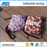 Factory offer Portable fast inflatable air sofa lazy air bed bubble bag nylon with good price