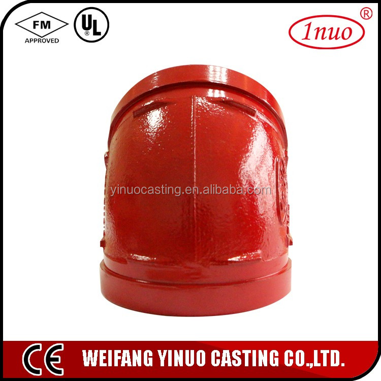 FM/UL ductile iron pipe connect fittings 22.5 elbow