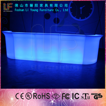 outdoor party used Night club Wireless Rechargeable Rotomolding white mould illiminated bar light up plastic led furniture