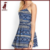 Ethnic Style Printed 100% cotton lady harness dresses