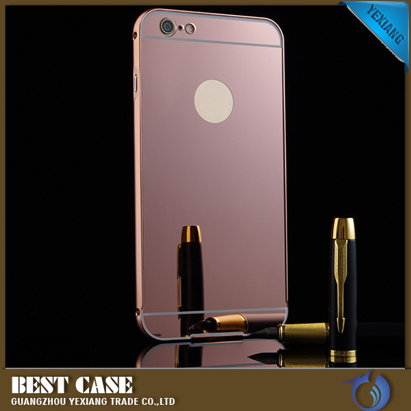 For iphone 6 6s aluminium mirror phone case metal bumper for Mirror your phone