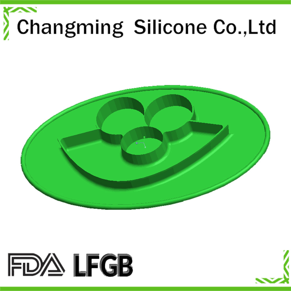 happy christmas gift silicone mat/mini place mat for babies suction to the highchair or table