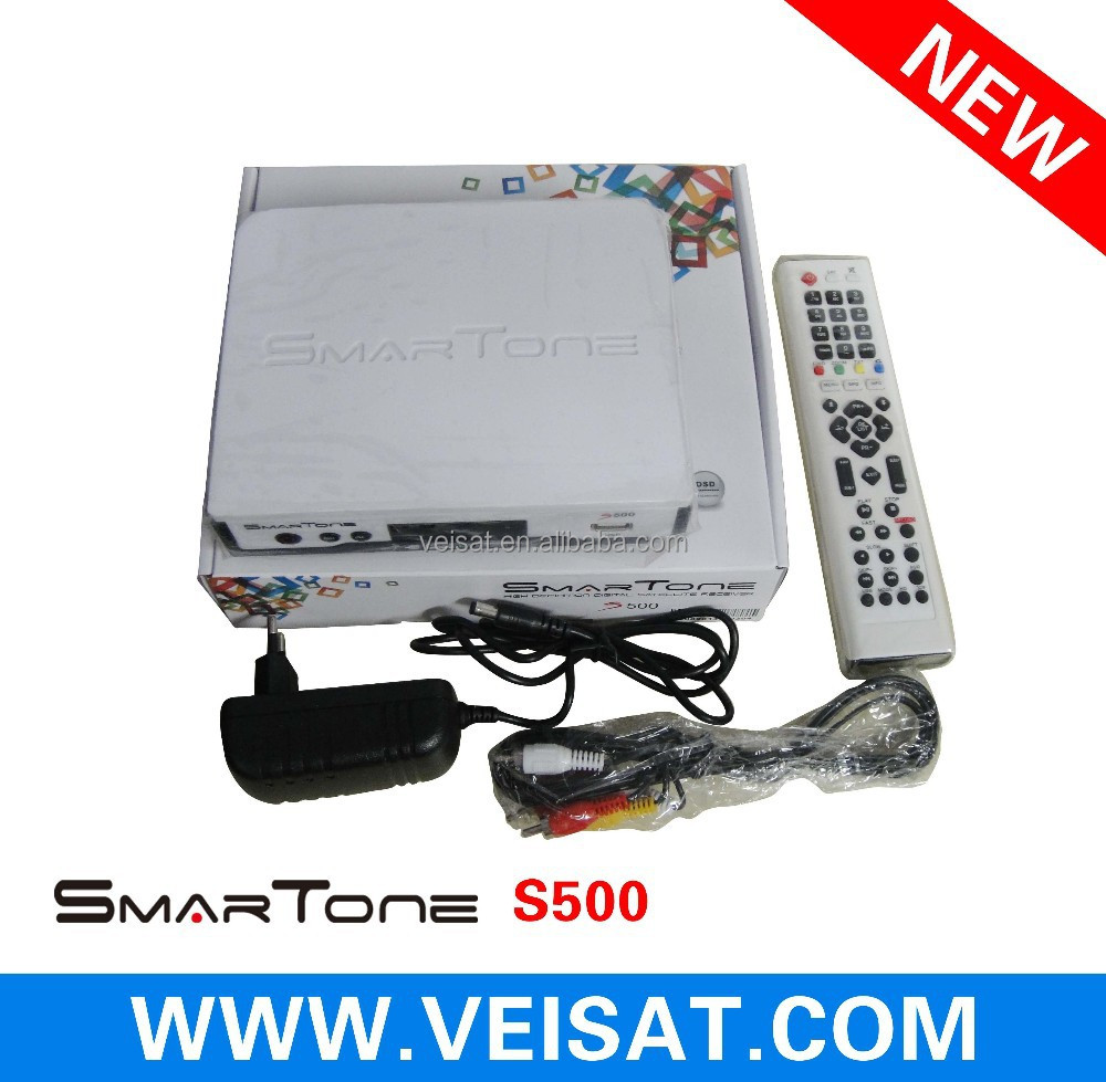 New Satellite Receiver For HD Free Channels Smartone S500 with Free iks&sks&wifi