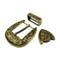 3 PCS Wholesale Basic Metal Western Belt Buckles Sets