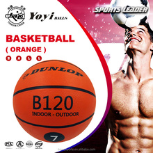 Chinese orange rubber basketball official size 7