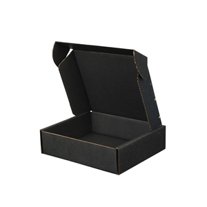 Custom Logo printed matte black corrugated board shipping packaging mailer boxes