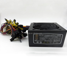 1600W ethereum power supply for RX 470 /570 RX480/580 6 GPU CARDS miners