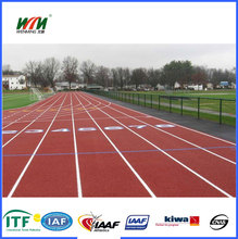 PU rubber running tracks field surface material price
