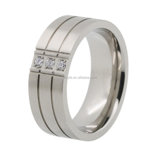Bulk sale stainless steel rings wholesale jewelry custom mens cz rings jewelry