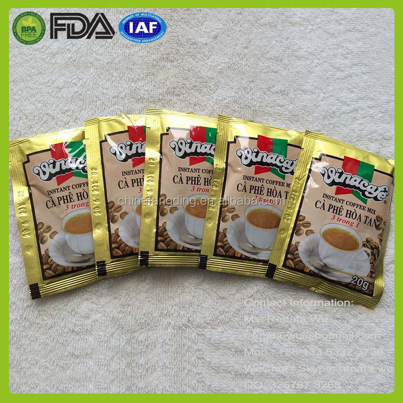 automatic coffee packaging film coffee powder sachet packaging