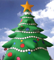 outdoor christmas inflatables,santa tree Christmas decoration