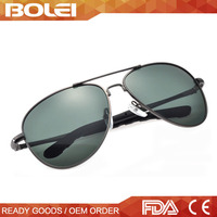 ce china supplier men metal polarized cat 3 uv400 aviator sunglasses