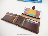 New smart phone stand flip case leather caller ID wallet case for note 3 N9000