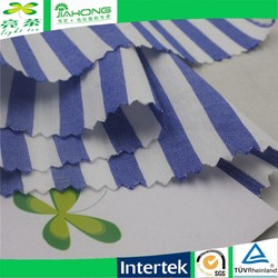 100 cotton yarn dyed blue and white stripe fabric for dress
