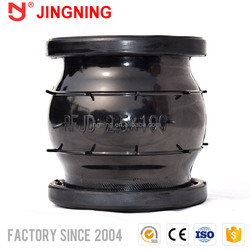 Flanged flexible rubber espansion bellows for pipe fittings