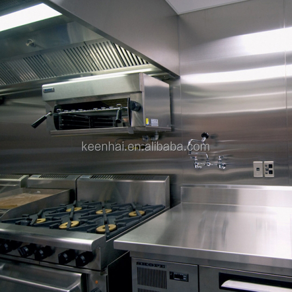 Fireproof Metal Panels : Decorative stainless steel fireproof kitchen wall