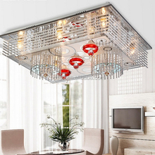 Modern overhead crystal family home deco new led ceiling light
