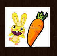 Latest Cartoon Rabbit with Carrot High Qulaity for Kids Safety Tattoo Sticker