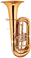 keful bb tone golden lacquer bass tuba china brass wind