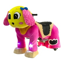 Hot Sale 12V Battery Drive Electric Motorized Plush Animal Kiddie Ride For Mall Rental Coin Operated