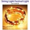 10m 600LM LED Micro Led Copper Wire String Lights, Festival Christmas Decorative Light Outdoor 100 Emitters
