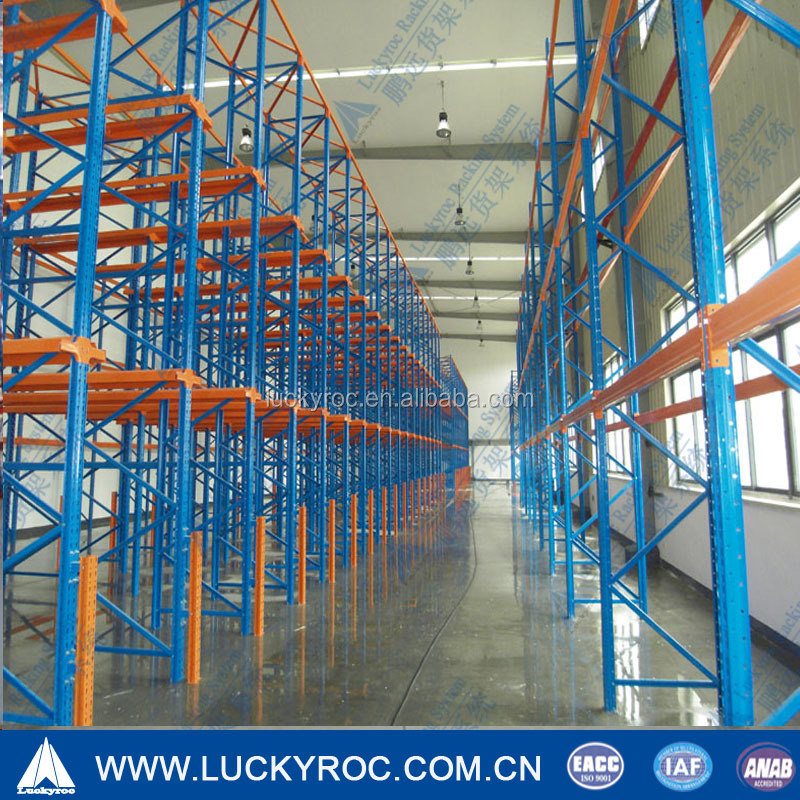 Heavy Duty Pallet Rack Storage with Drive-In / Drive-Thru Racking
