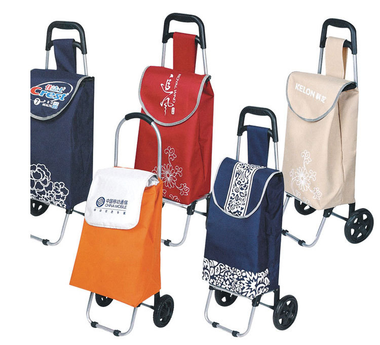 daily use new product 600D oxford fabric with two eva wheels foldable shopping trolley