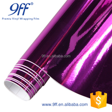 Popular car decorative sticker chrome mirror sticker car pink vinyl film for car with air free bubble