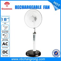 12v 18'' rechage able rechargeable stand fan with battery emergency