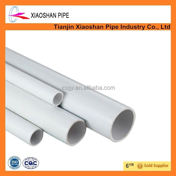 astm sch40 pvc pipe list and pvc water pipe for supply