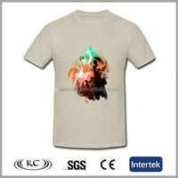 stylish uk good price color print customized 3d tshirt