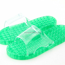Best Selling Women Men Massage Shower Bathroom Slipper Non-slip Acupressure Sandal Spa PVC Plastic Shoes