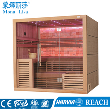 Hemlock Solid Wood Type and Solid Wood Main Material sauna (M-6055)