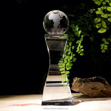 Hot promotion simple design high-end crystal memento trophies